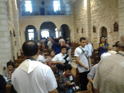 Inside the Wedding Church, Cana in Galilee