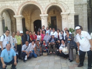Outside the Cana Church after the Mass, before going to a souvenir shop