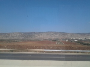 Jordan Valley as viewed from our tour bus