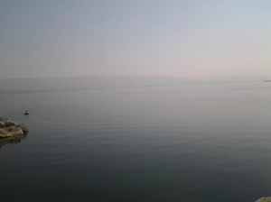 Sea of Galilee viewed from the Restaurant near its seashore