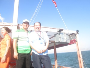 Me and Fr. Estong at the Boat