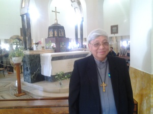 Bishop Dinulado D. Gutierrez DD inside the Church of Mount of Beatitudes