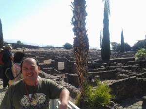 Me, the Old Houses in Capharnaum at the back