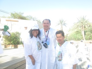 Me, Fr. Estong and Marivet Caballero after the Symbolic Baptism