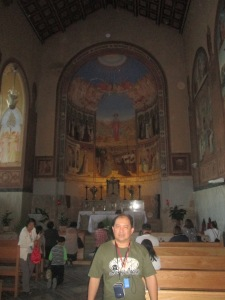 Me at the Visitation Church-Ein Karem