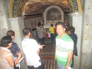 Fr. Estong at the Grotto of St. John the Baptist Church