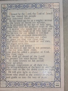 Benedictus in English-St. John the baptist Church-Ein Karem