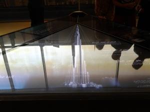 Silver replica of Borj Khalifa-Dubai