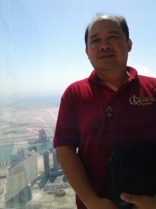 Me at the top of Borj Khalifa