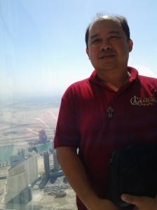 Me at the top of Borj Khalifa