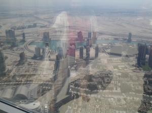 Viewed at the top of Borj Khalifa
