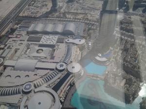 where we ate last night (TGIF Restaurant) viewed from Burj Khalifa