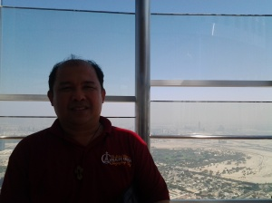Me at the top of Borj Khalifa-Dubai
