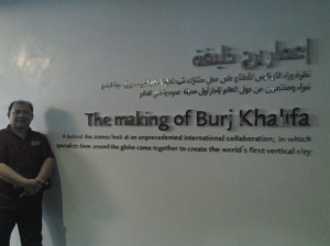 Me at the Sign of the making of Borj Khalifa-Dubai
