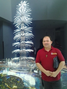 Me at a Replica of burj khalifa during new year