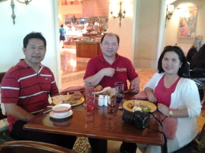 Me, Fr Estong and Maryann at Atlantis Hotel-Dubai