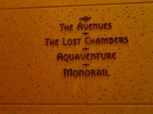 Sign of Atlantis Hotel Aquarium-Dubai