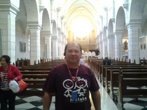 Me at inside the St. Catherine Church