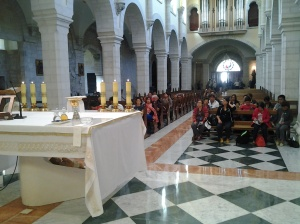 Inside the Saint Catherine Church before the Mass
