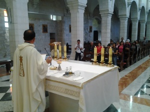 Fr. Roming Subaldo presiding the Mass