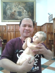 Me and Baby Jesus-St. catherine Church, Nativity in Bethlehem