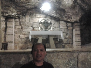 a tomb - at the bottom of the St. Catherine Church - Bethlehem
