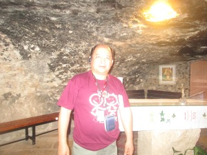 Me Inside the Shepherd's field grotto