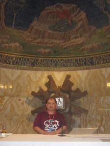 Me at the altar Inside the Basilica of the Lord's Agony -Gethsemane