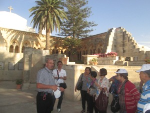 our Tour Guide and some of of my co-pilgrims inside the Pater Noster