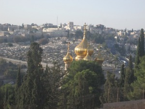 Viewed from Dominus Flevit - a Russian Orthodox Church