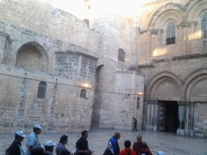 Holy Sepulchre where the 10th to 15th finished Stations happened here