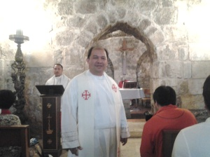 Me before the mass-at a-Chapel within the Holy Sepulchre Church