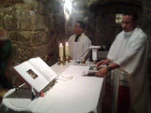Fr. Ramil Poquita CP was main celebrant at a chapel in Holy Sepulchre while Bishop Dinulado D. Gutierrez DD was the main presider