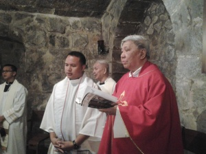 Bishop Guitierrez, the presider of the Mass delivered the homily