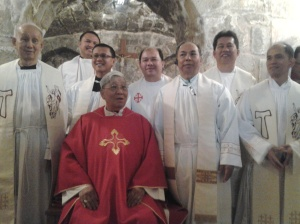 559 Priests with the Bishop after Mass
