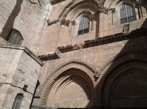 outside holy,sepulchre