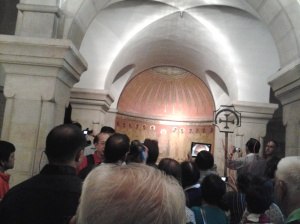 oming of the holy spirit - underground of Dormition Church