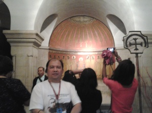 Me at the Coming of the holy spirit - underground of Dormition Church