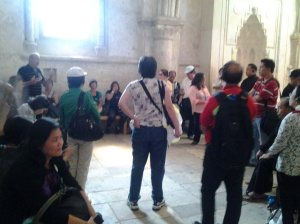 upper room from crusaders (800 AD) where the Sacrament of Priesthood and Holy Eucharist were instituted by Jesus