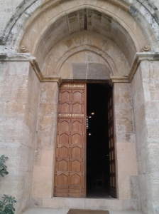entrance of crusader church at emmaus (Abu Gosh