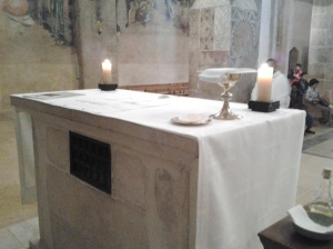 The altar of the crusader church, Emmaus