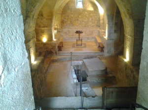 Crpyt underneath the crusader church yr 1143 spring