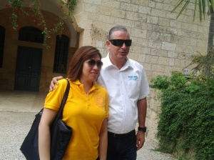Gem and Saher our tourist bus driver