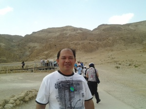 Me during the qumran park tour