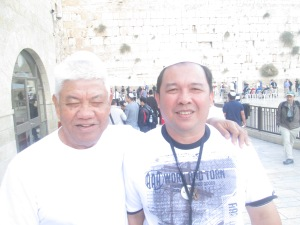 Me, Just Grino at the Western (Wailing) Wall