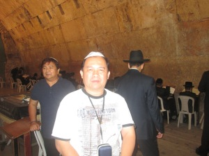 Me inside the Synagogue of the Western (Wailing) Wall