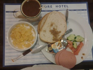 Early Breakfast at Commodore Hotel before we went 2 Amman, Jordan
