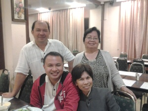With the birthday celebrant Fr Ramil Poquita CP at Commodore Hotel before we departed for Amman, Jordan