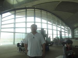 Me at the Pre-Departure Area of Queen Alia International Airport, Amman Jordan