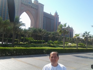 Me with Atlantis Hotel Dubai as the background